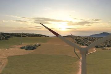 Referenzanimation Windkraft