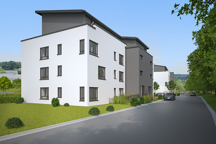 realistische Fotomontage Haus ganz deutschlandweit