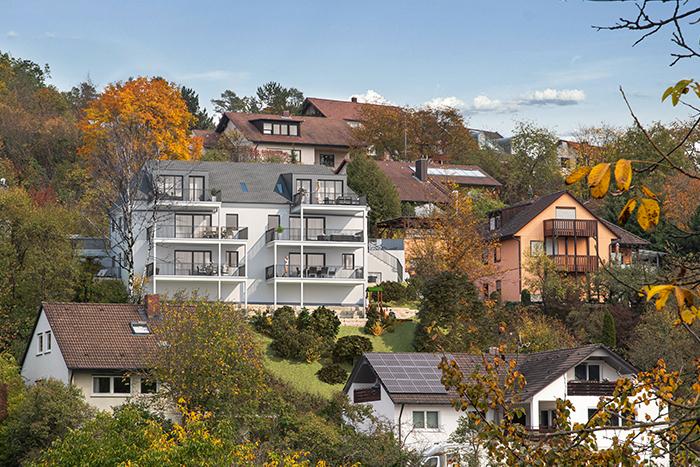 Bauprojekt Oberdürrbach bei Würzburg Marketing